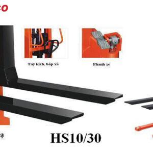 cấu tạo xe nâng tay cao HS10-30