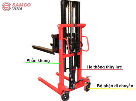 cấu tạo xe nâng tay cao 1 tấn