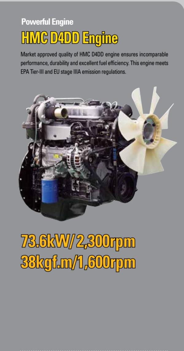 Xe nâng dầu Huynhdai 6 tấn có động cơ HMC D4D mạnh mẽ