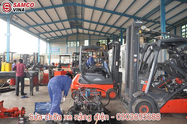 xưởng sửa chữa xe nâng điện