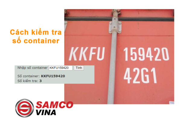 Cách kiểm tra số Container