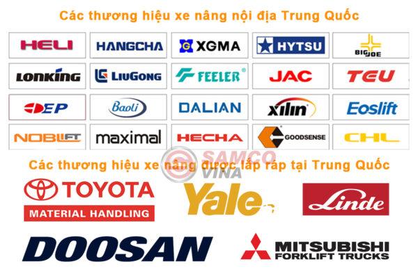 Các thương hiệu xe nâng trung quốc