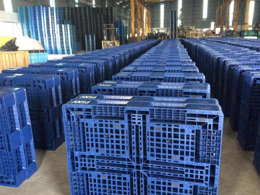Vật liệu pallet nhựa chủ yếu từ nhựa PP và HDPE